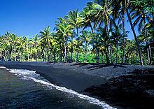 Punalu'u Beach op Hawaii