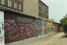 De Muur in juni 1989