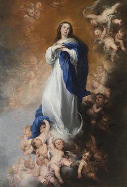 De onbevlekte onrvangenis - Inmaculada Concepción de El Escorial - Bartolomé Esteban Murillo - 1678