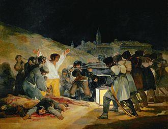 El tres de mayo de 1808 en Madrid - Goya - 1814