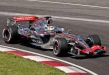 Hoogste topsnelheid in Formule 1 race