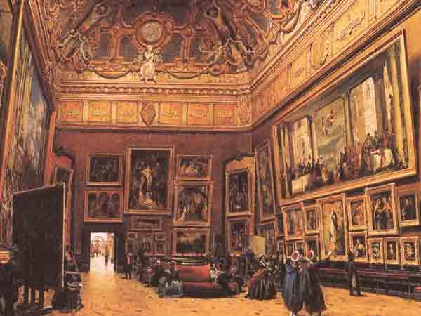 Het Louvre in de 19de eeuw