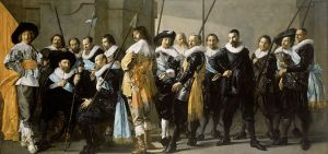 Frans Hals en Pieter Codde. Het korporaalschap van kapitein Reinier Reael en luitenant Cornelis Michielsz. Blaeuw, bekend als 'De magere compagnie'. 1633-1637
