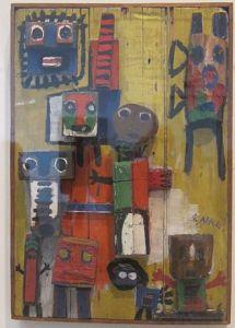 Karel Appel - Vragende kinderen in een 3-dimensionale versie (1949)