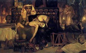 Laurens Alma Tadema - De dood van de eerstgeborene van de Farao, 1872