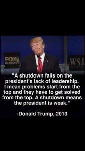 Donald Trump - Shutdown