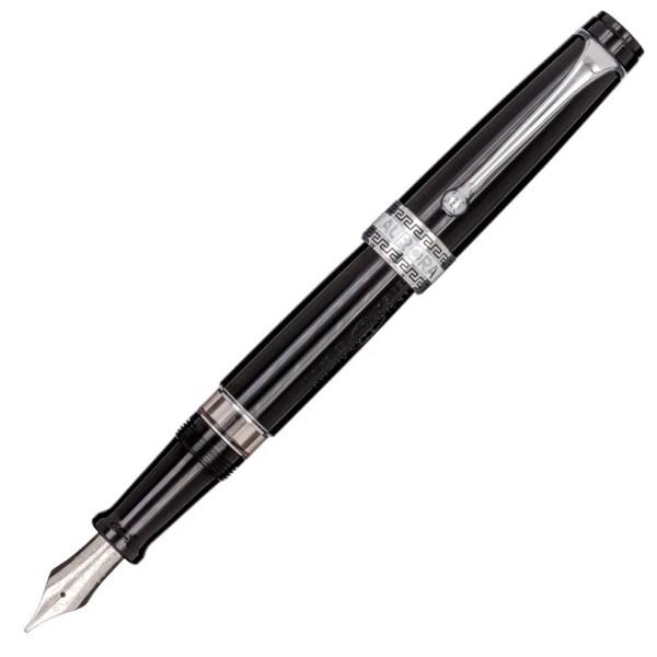 Aurora_Optima Resin Black_Chrome Trims_Fountain Pen