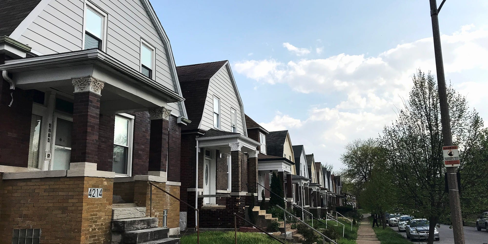 Homes on the 4200 block of Grace Avenue in Dutchtown West.