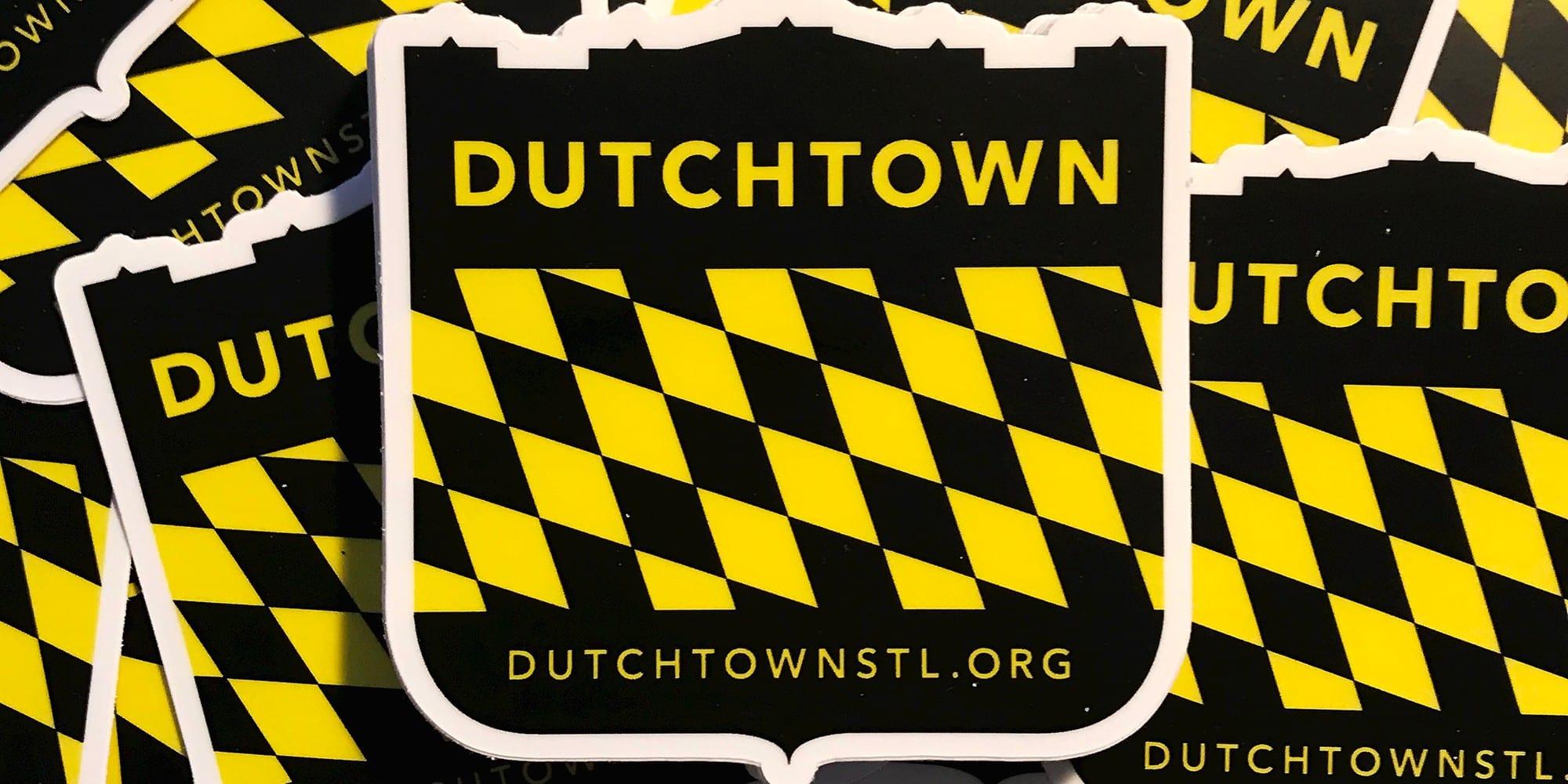 DutchtownSTL.org stickers.