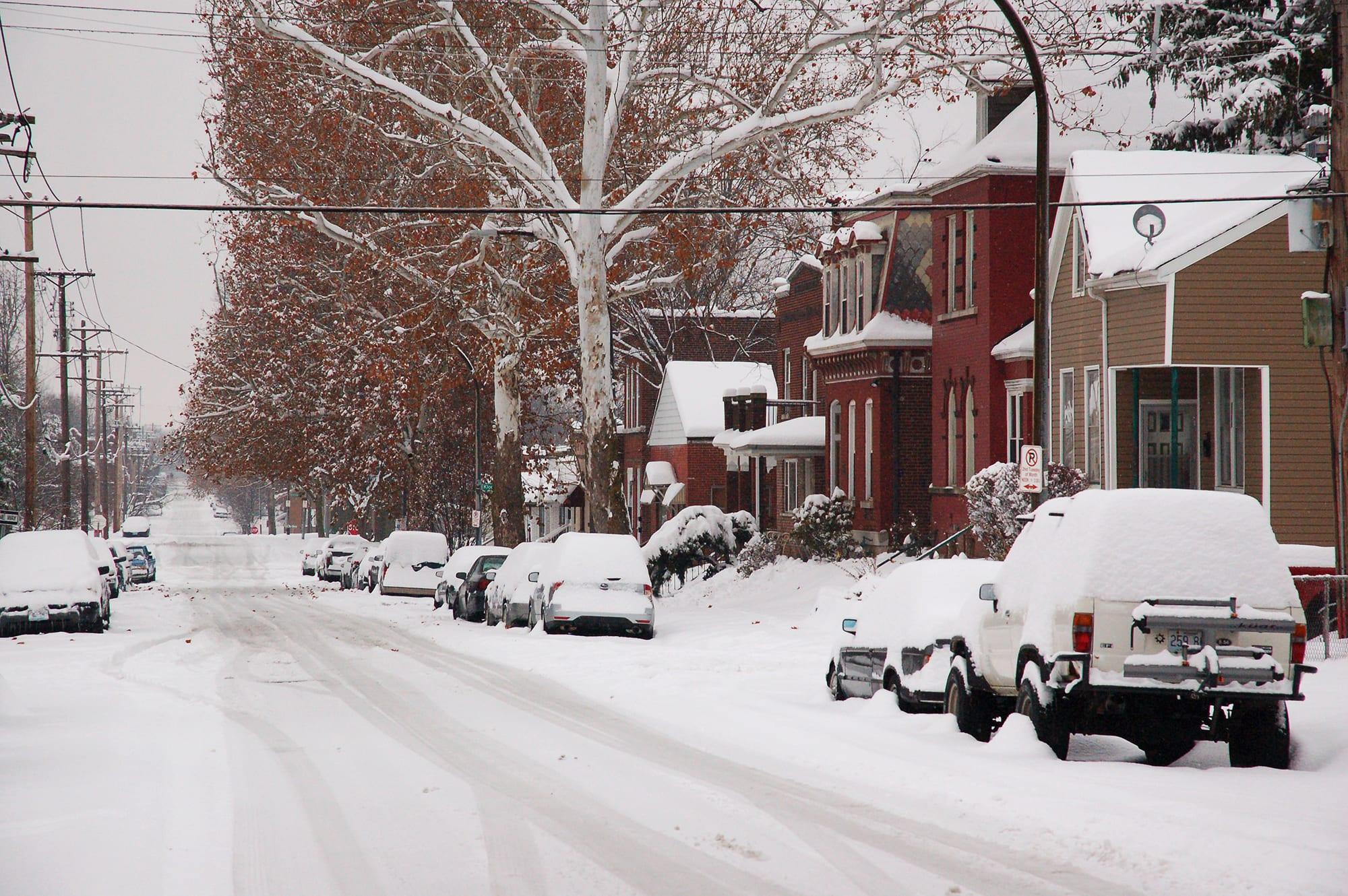 Louisiana Avenue in the snow.