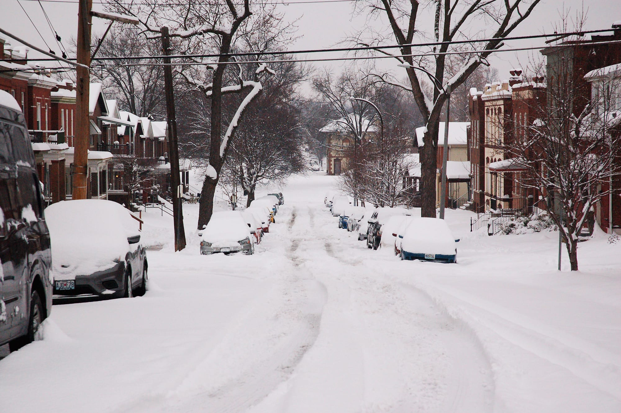 Virginia Avenue in the snow.