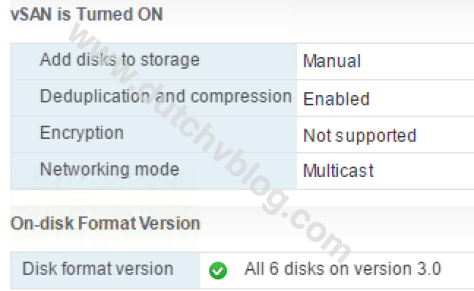 vSAN 6.6 summary showing multicast