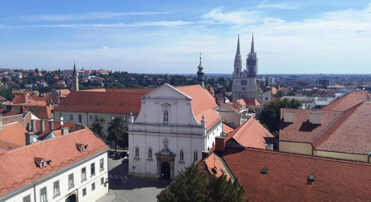Uitzicht over Zagreb