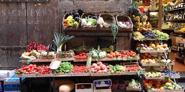 groenten en fruit markt biologisch voetafdruk