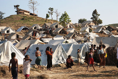 Rohingya IDPs at Taung Paw Camp in Arakan State (PHOTO: UK Foreign and Commonwealth Office