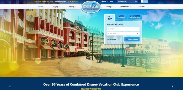 Cover of DVC Resale Market's site
