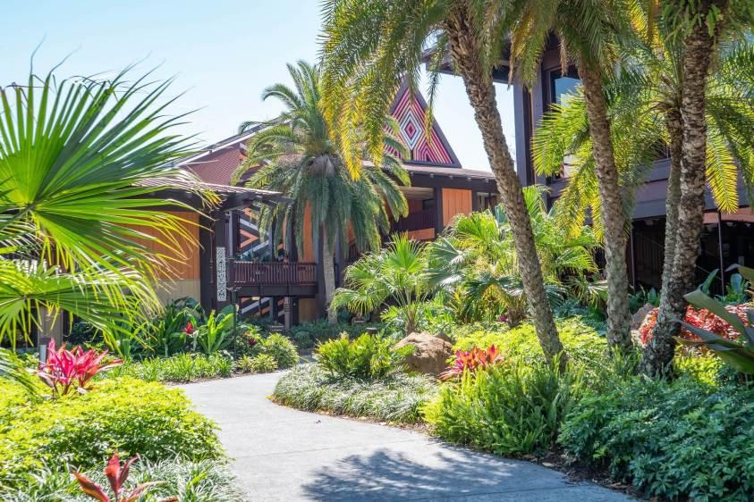 Exterior of Polynesian DVC resort in Orlando, Florida