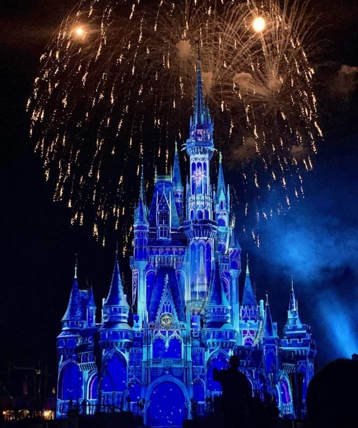 NYE Fireworks at Cinderella's Castle