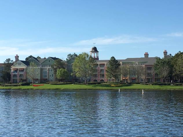 Disney's Saratoga Springs view from the lake