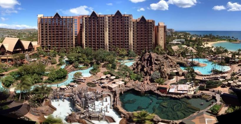 Aerial view of Disney's Aulani Resort in Hawaii