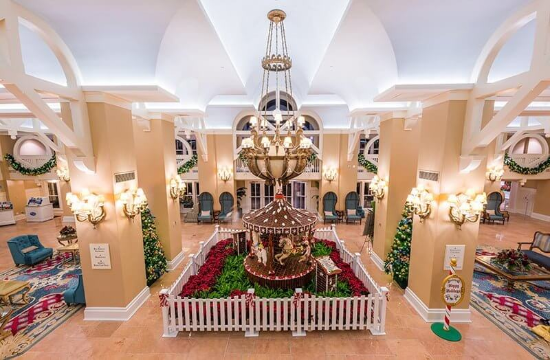 Gingerbread Carousel at Disney's Beach Club Resort Lobby