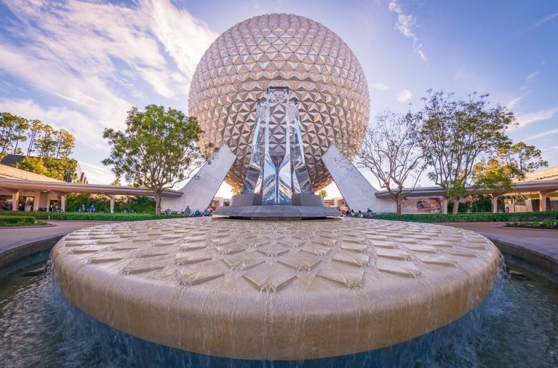 EPCOT with Spaceship Earth Ride at Walt Disney World