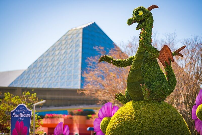 Topiary dragon at EPCOT in Disney World