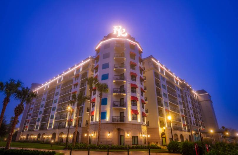 Foggy Evening in front of Disney's Riviera Resort