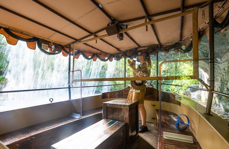 COVID-19 precautions on Disney's Jungle Cruise