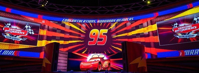 Cars' Lightning McQueen congratulations screen
