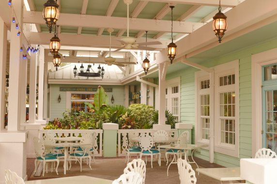 okw outside seating area