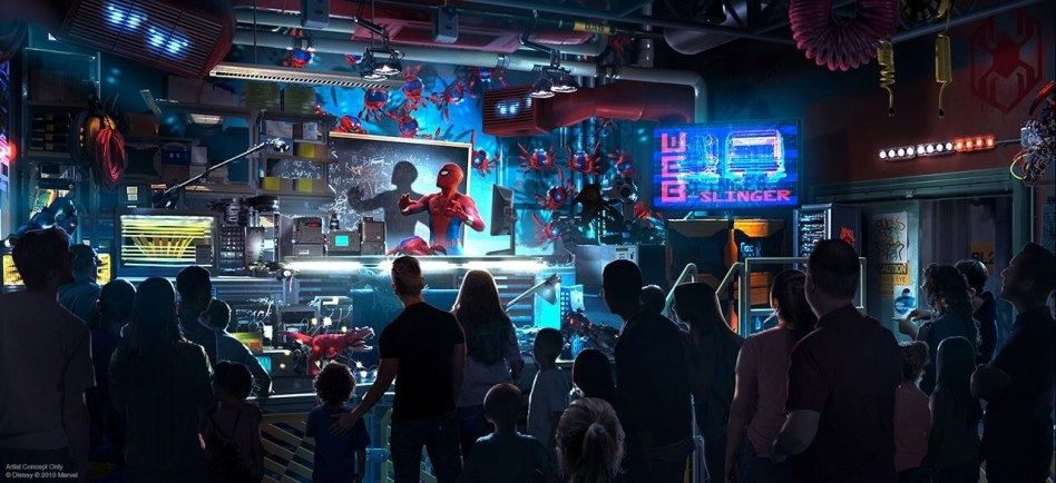 Avengers Campus Spider-Man Attraction the web slinger