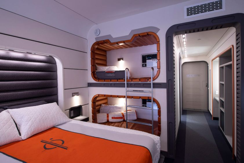 Plans for Star Wars: Galactic Starcruiser hotel room