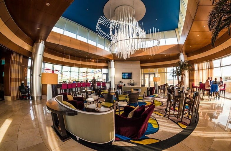 Top of the World Lounge interior at Walt Disney World's Bay Lake Tower