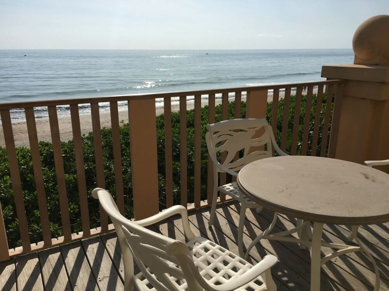 Disney resort in Vero Beach room patio view of ocean