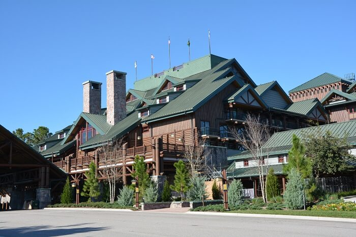 Wilderness Lodge Front View from the road