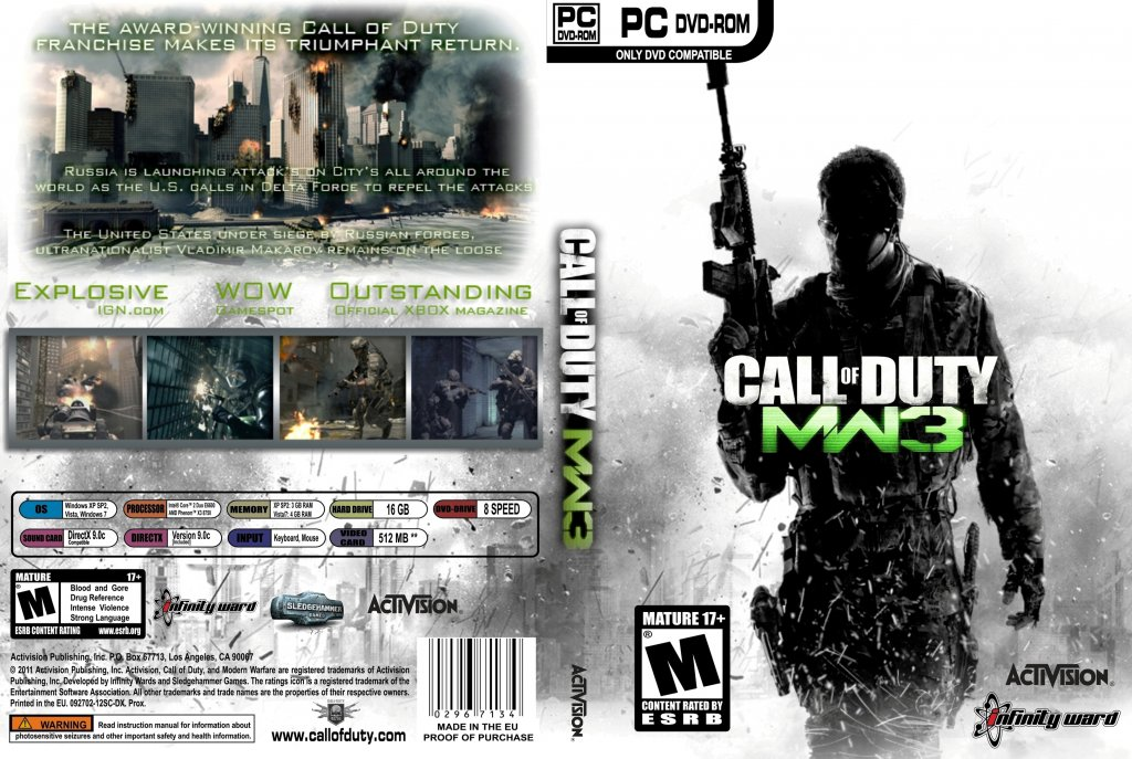 Call Of Duty Modern Warfare 3 PC Game Covers Call Of