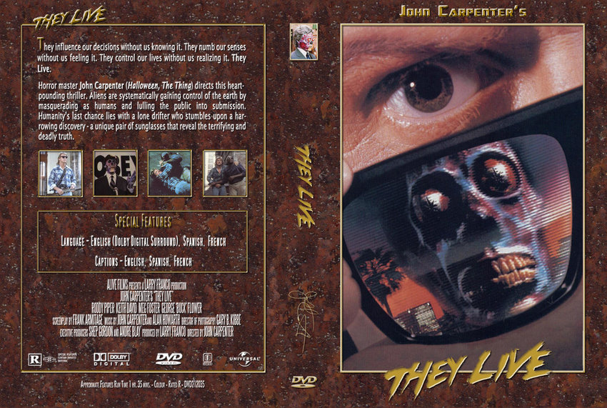 They Live Movie Dvd Custom Covers 463they Live Jc
