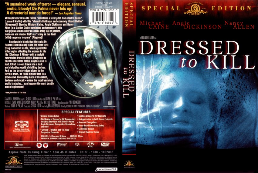 Dressed To Kill Scan Movie Dvd Scanned Covers