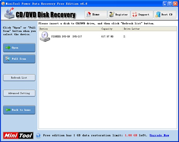 Recover DVD files