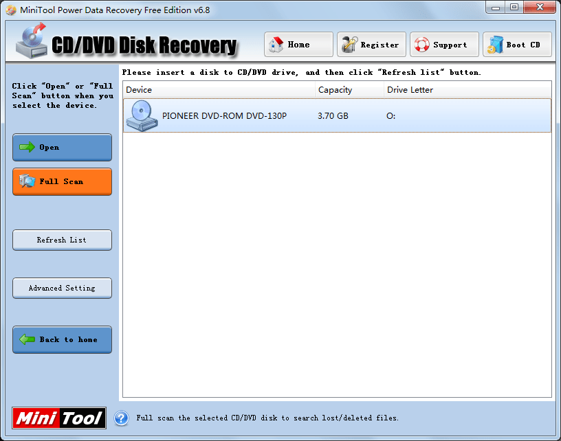 Recover data DVD1