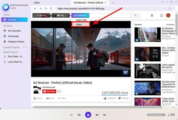 Free URL Video Downloader - DVDFab Software