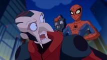 """Com o Vulture punho, pointy-nosed funcionário descontente Adrian Toomes torna-se o primeiro vilão em ação em """"The Spectacular Spider-Man""""."""