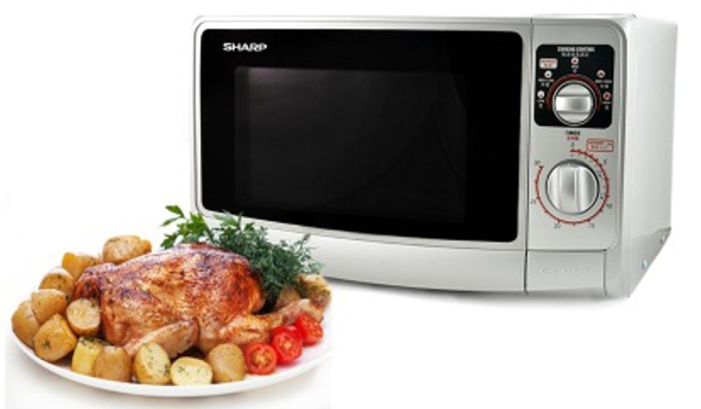 sharp r 219ts 220 volt medium size 22l microwave oven