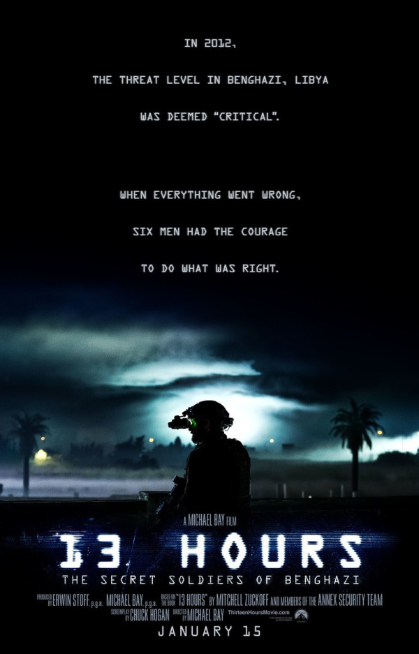 13 Hours The Secret Soldiers of Benghazi DVD Release Date