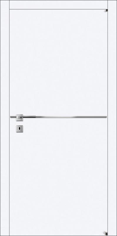 Межкомнатные двери Avangard А6.М с металлической полосой