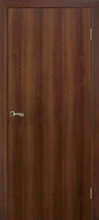 Двери Глухая (гладкая) орех Омис