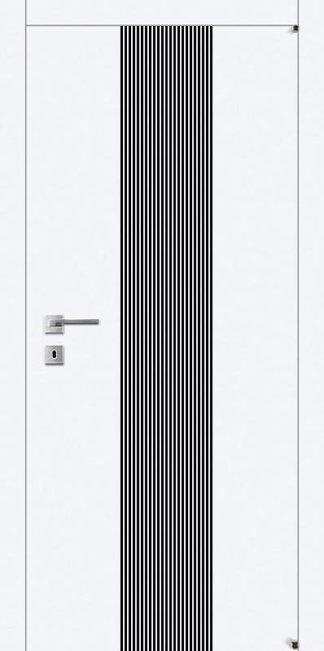 Межкомнатные двери Avangard А22.S белого цвета с черным стеклом