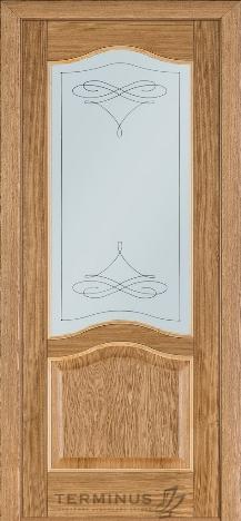 Двери Терминус 03 дуб светлый с матовым стеклом