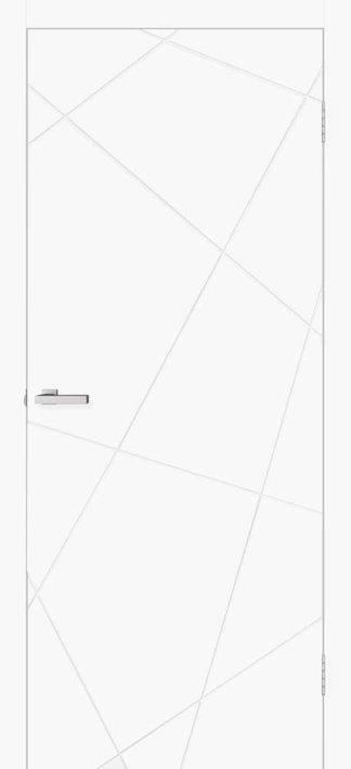 Двери Геометрия 02 белый матовый Омис